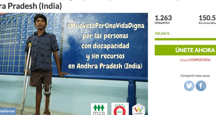Objetivo cumplido: 150.000 kilómetros solidarios a favor de la India