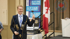 Swearing in and a new century of service with the Rotary Club