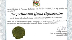 Certificate of Appreciation For The Pandemic Efforts