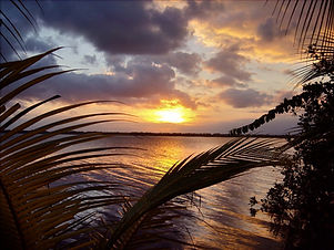 Sunset Lagoon- Blue Cabana