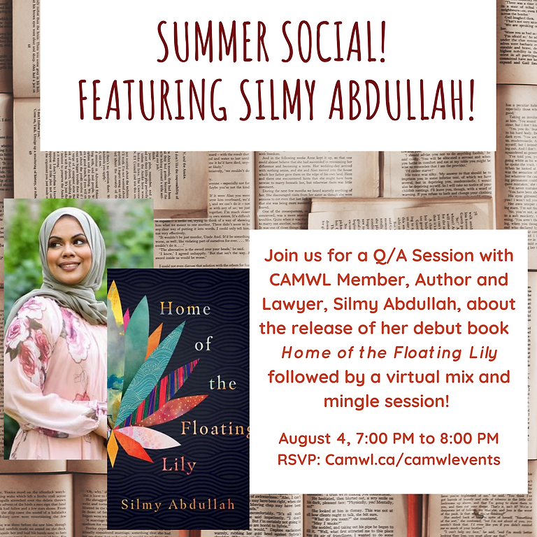 Summer Social, Featuring Author and Lawyer Silmy Abdullah!