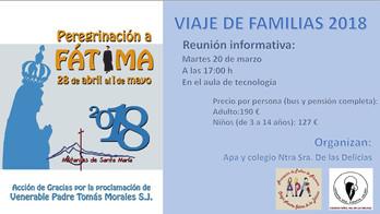 Viaje de las familias, peregrinación a Fátima