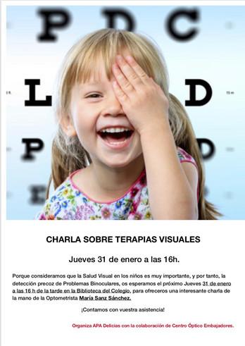 Charla TERAPIAS VISUALES