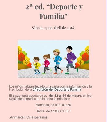 """2ª edición """"Familia y Deporte"""""""