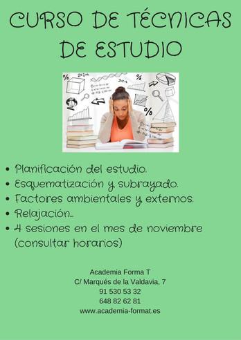 Cursos de Técnicas de estudio E.S.O. y Bachillerato