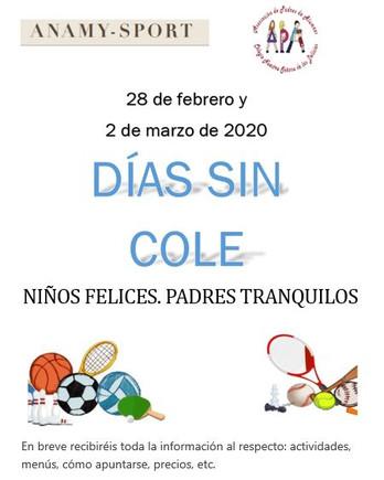 Días sin cole: 28 febrero y 2 marzo 2020