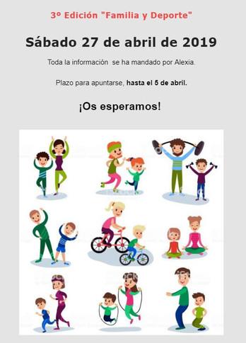 """3ª edición """"Familia y Deporte"""""""
