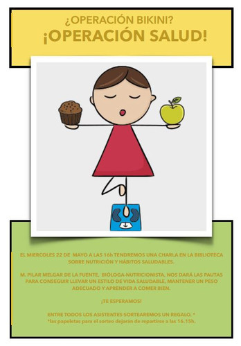 Charla Nutrición y hábitos saludables