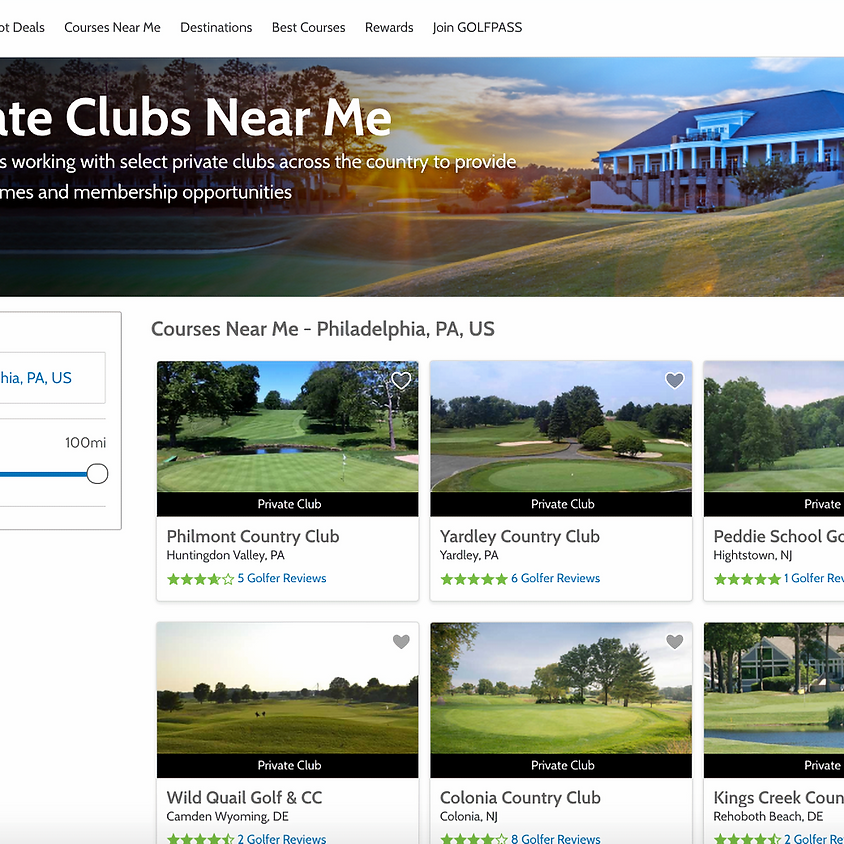 LEADS for Private Clubs with tee time options