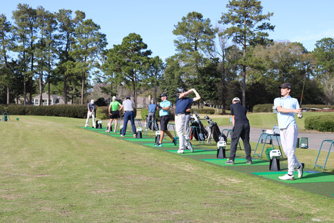 Touchless driving range at golf club