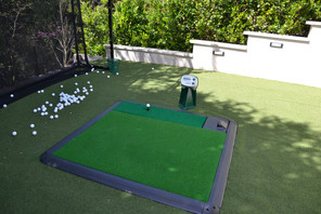 Backyard Install of touchless range by Power Tee