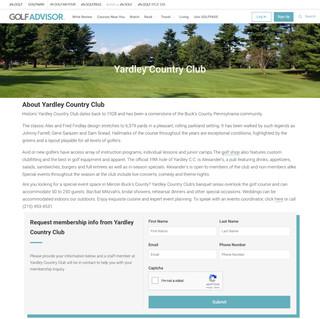 Private club brand page at Golf Advisor