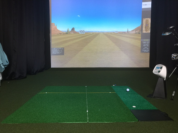 Alignment with touchless golf range