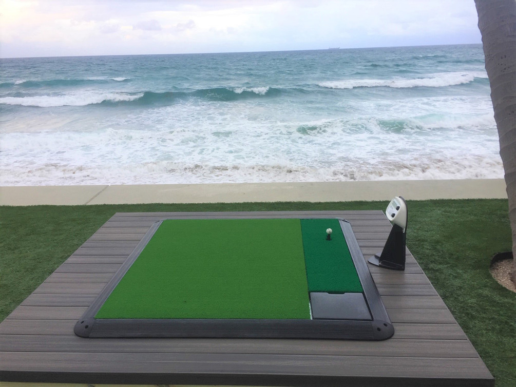 Beach Install of the touchless range system by Power Tee