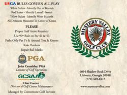 Golf scorecard cover