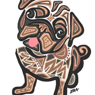Sarah Hiers Design Pug Drawing