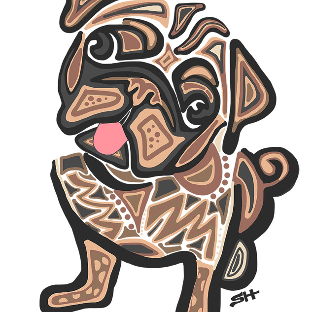 Sarah Hiers Design Pug Drawing