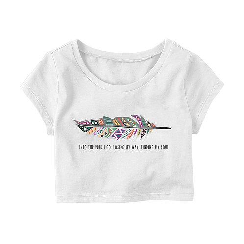 Into the Wild I Go Crop T-shirt