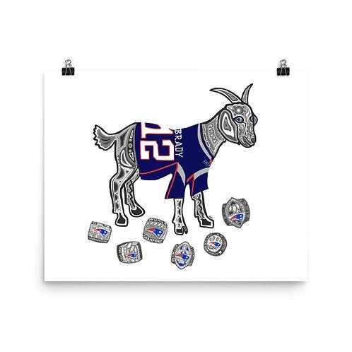 Tom Brady GOAT Six Superbowl Rings