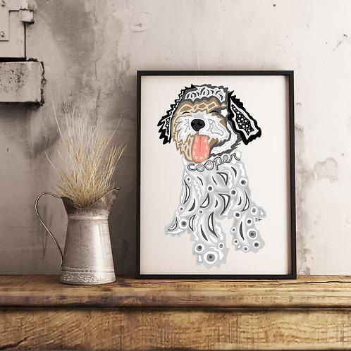 Custom Pet Portrait - Cooper 16x20 Framed