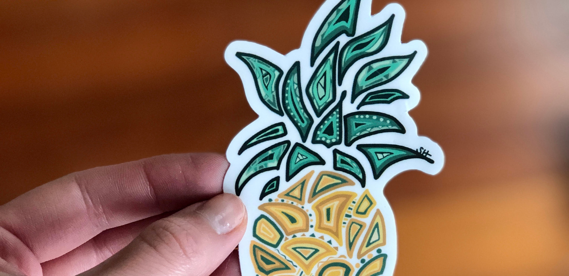 Sarah Hiers Design Die Cut Stickers Pine