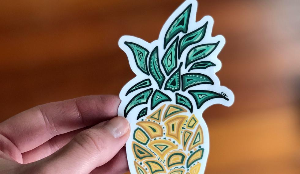 Sarah Hiers Design Die Cut Stickers Pine