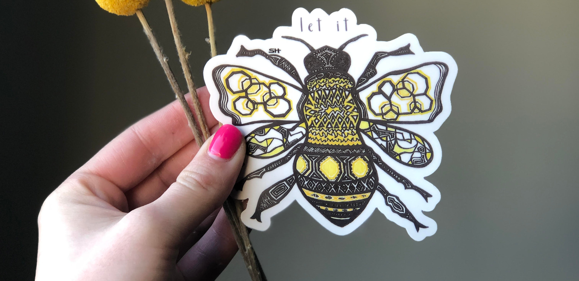 Sarah Hiers Design Die Cut Stickers Let