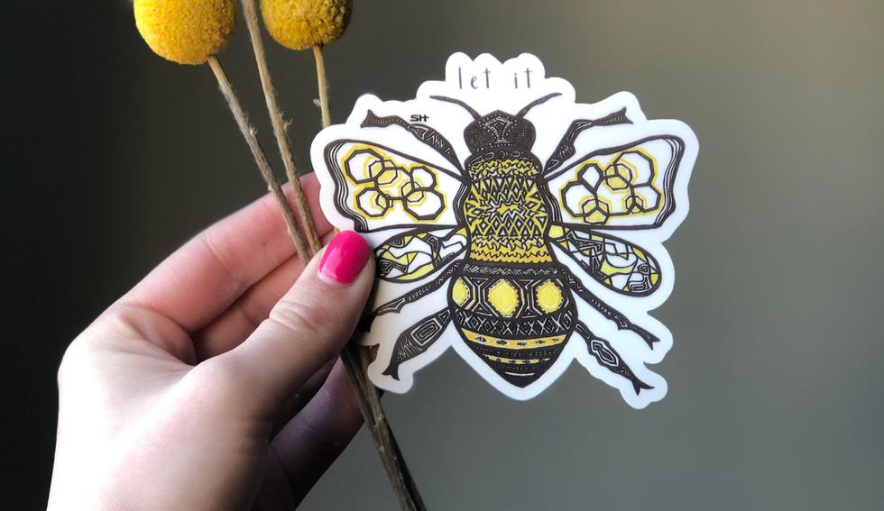 Sarah Hiers Design Die Cut Stickers Let
