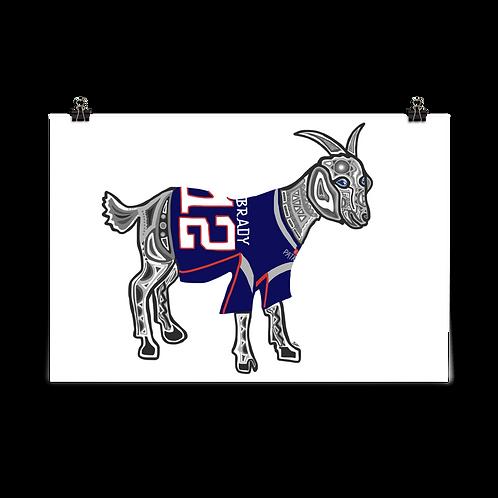 New England Patriots GOAT Print