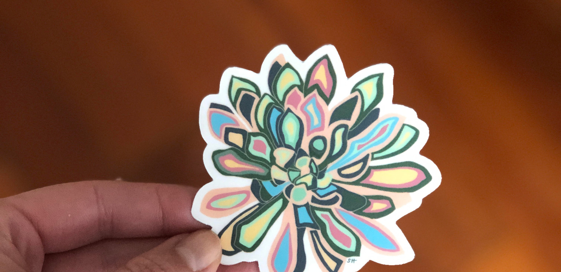 Sarah Hiers Design Die Cut Stickers Lotu