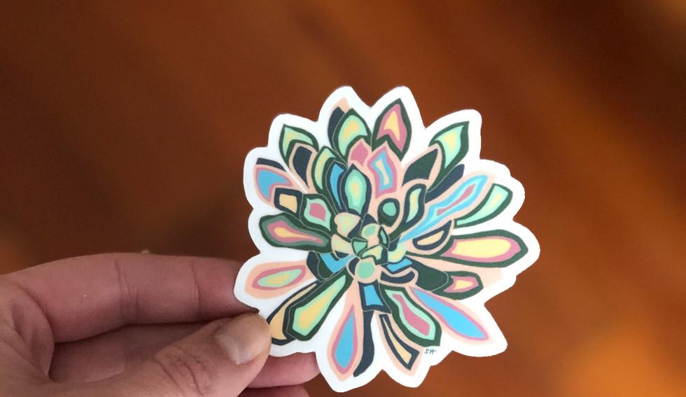 Sarah Hiers Design Die Cut Stickers Lotu