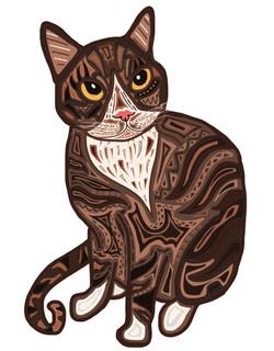 Brown Cat 8x10