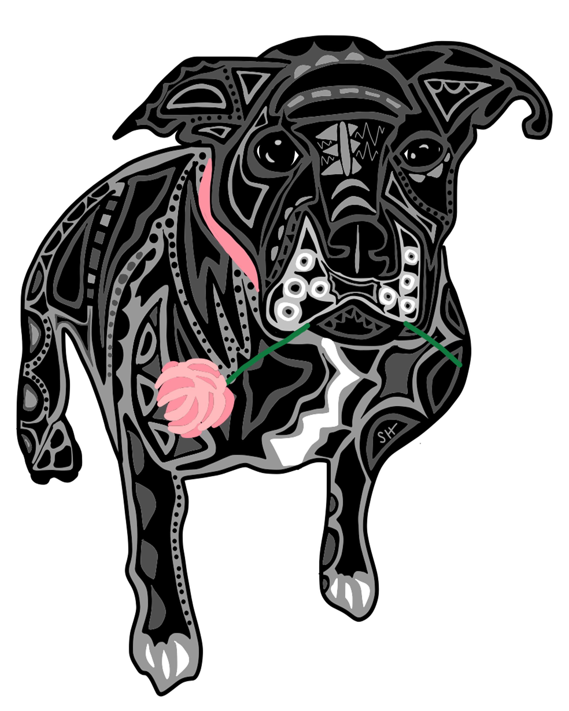 DogWithFlower_SarahHiersDesign_8x10