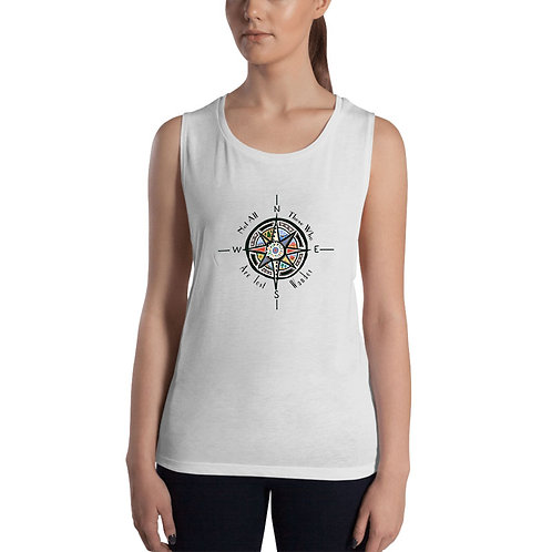 Not All Those Who Wander Are Lost Muscle Tank