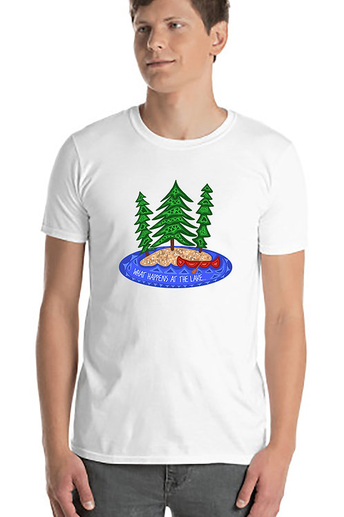 What Happens At The Lake Unisex Tshirt