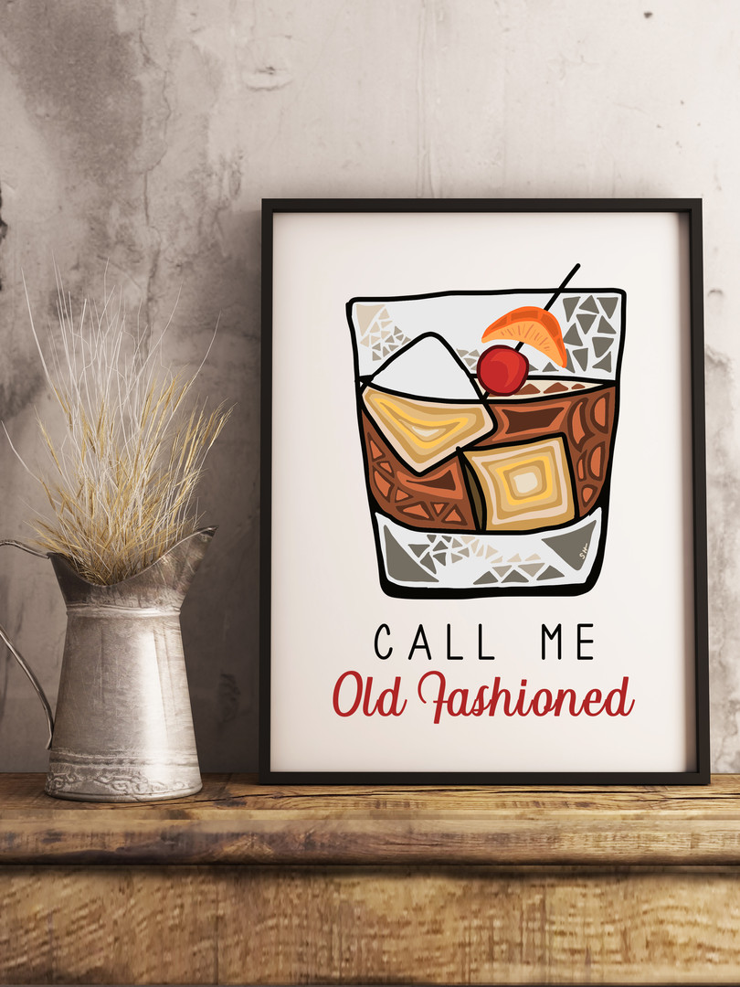 Sarah Hiers Design Call Me Old Fashioned Art