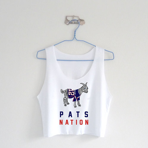 GOAT Pats Nation Crop Top