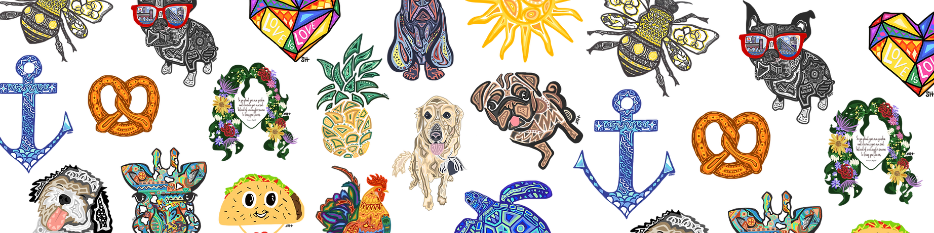 Sarah Hiers Design Custom Art Collage We