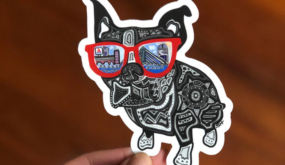 Sarah Hiers Design Die Cut Stickers Bost