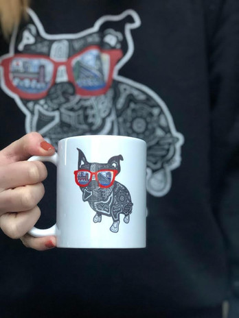 Sarah Hiers Design Boston Terrier Coffee
