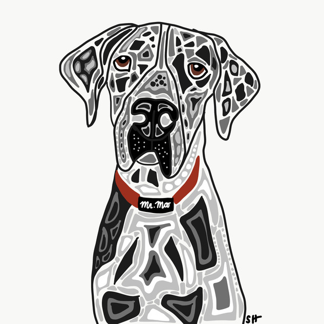 Sarah Hiers Design Great Dane Drawing