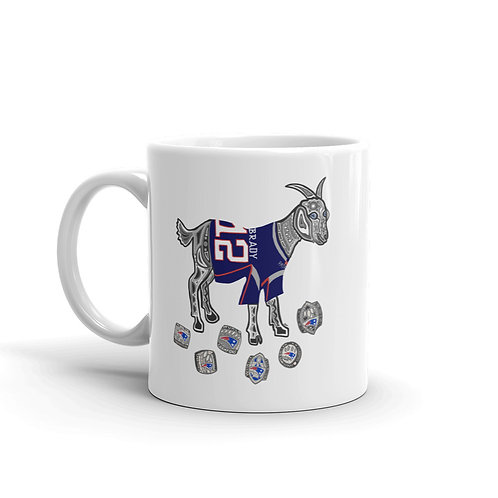 GOAT Superbowl Rings Mug