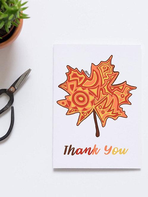 Thank You Maple Leaf Card