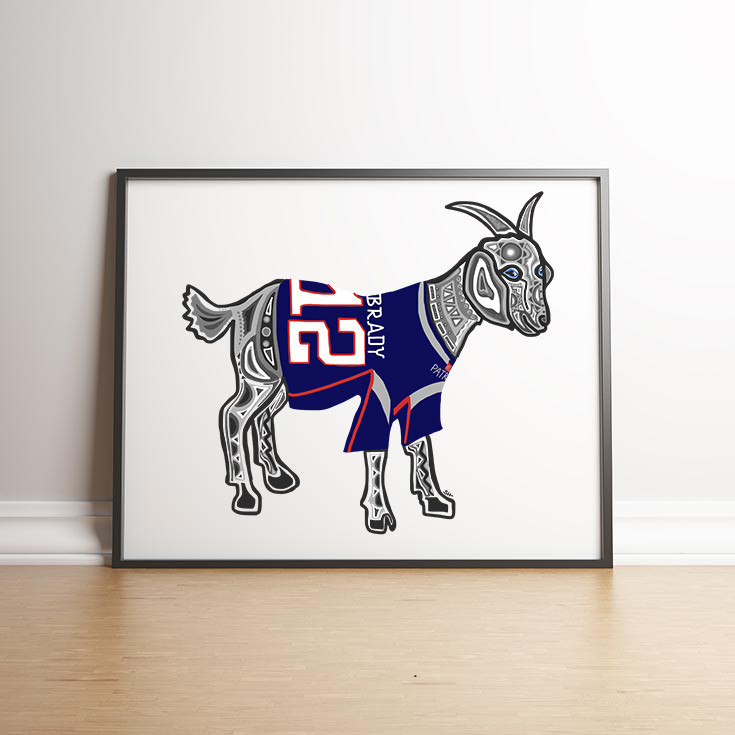 Sarah Hiers Design Tom Brady Goat Art