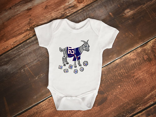 Tom Brady GOAT Superbowl Rings Onesie