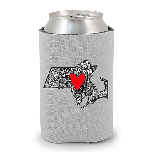 Massachusetts Drink Local Can Holder