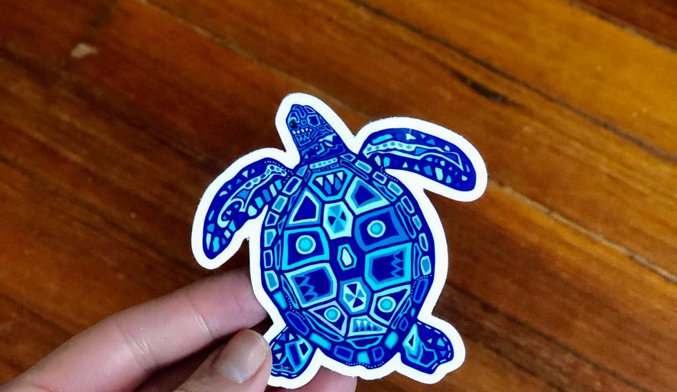 Sarah Hiers Design Die Cut Stickers Sea