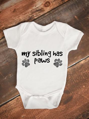 Sarah Hiers Design My Sibling Has Paws Onesie