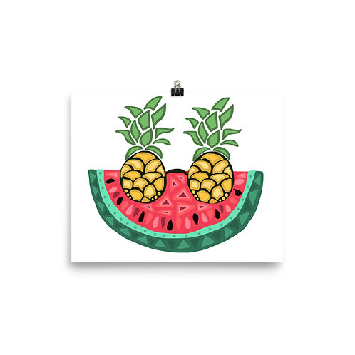 Watermelon Wearing Sunglasses