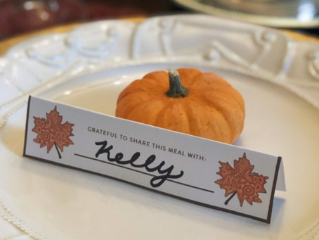 Grateful for... Free Thanksgiving Place Settings!